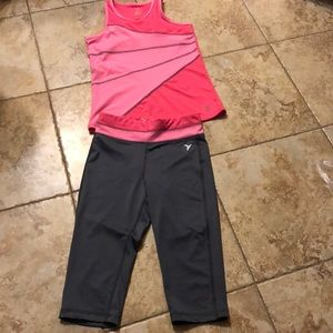 NWOT Girls size 8 tank and capris from old navy